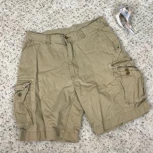 Men's 36 Tan Polo Cargo Shorts